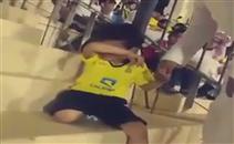 بكاء طفل نصراوي بعد مباراة احد