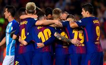 هدفا برشلونة فى مالاجا