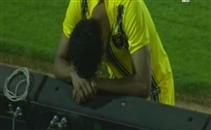 بكاء نايف هزازي لاعب التعاون بعد لقاء اهلي جدة