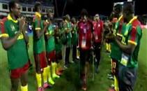 تحية لاعبي الكاميرون للاعبي مصر