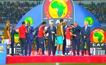 استلام منتخب مصر للميدالية الفضية ببطولة افريقيا