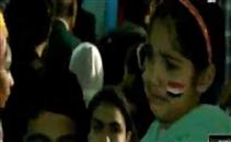بكاء طفلة بعد خسارة مصر لبطولة افريقيا
