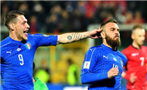 هدفا إيطاليا في البانيا
