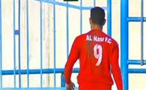 لاعب النصر  يحتفل علي طريقة ابرا في الممتاز ب