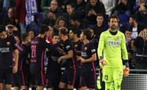 ميسي يصنع هدف برشلونة الثاني في اسبانيول