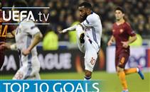 افضل 10 اهداف في الدوري الاوروبي موسم 16-2017