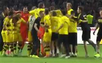 فرحة لاعبي دورتموند بالفوز بكأس ألمانيا