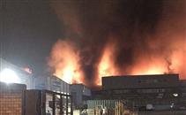 حريق حول ملعب توتنهام السابق واويت هارت لين