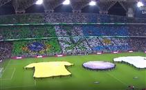 تيفو الجماهير قبل مباراة البرازيل والأرجنتين