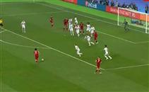تسديدة صلاح أمام ريال مدريد