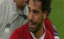 بكاء محمد صلاح بعد إصابته