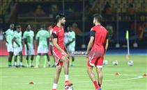 إحماء تونس ونيجيريا قبل المباراة