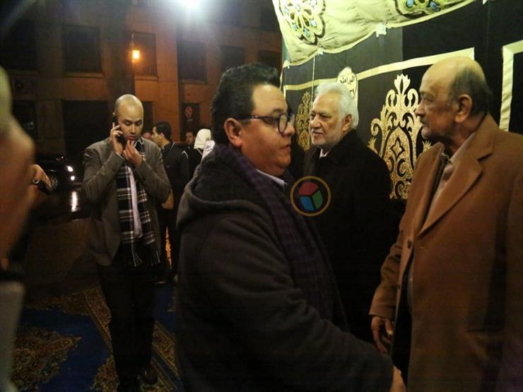 خالد جلال في عزاء نادية فهمي