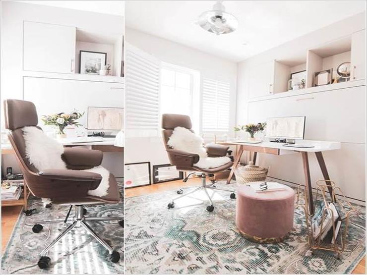5- تصميم مريح آخر يجمع بين الأصالة والحداثة مع إمكانية الحركة للكرسي.
