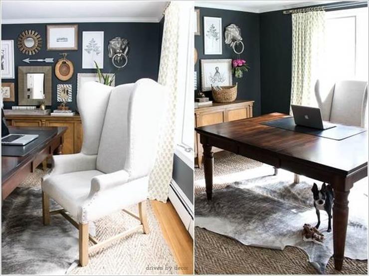 3- نموذج آخر لكرسي بظهر مرتفع مع ارجل خشبية مشابه للأرائك.