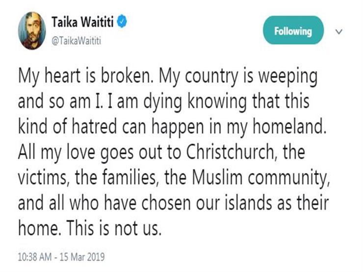 تغريدة تايكا وايتيتي