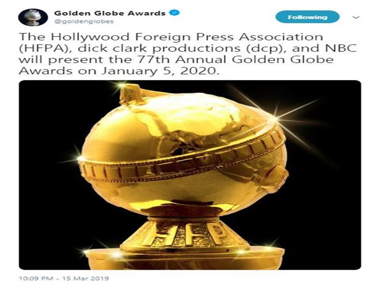 إعلان جولدن جلوب ميعاد حفل توزيع جوائزها 2020