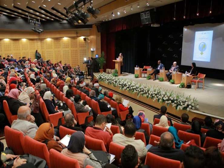 جانب من افتتاح مؤتمر اليوم العالمي للمرأة بمكتبة الإسكندرية