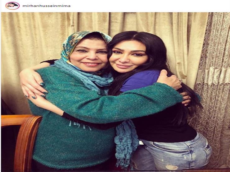 ميريهان حسين ووالدتها على انستجرام