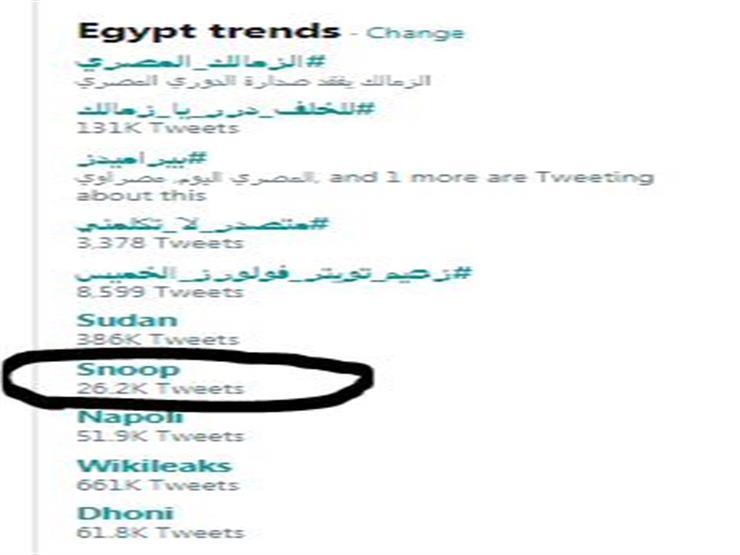 سنوب دوج يدخل تريند مصر (1)