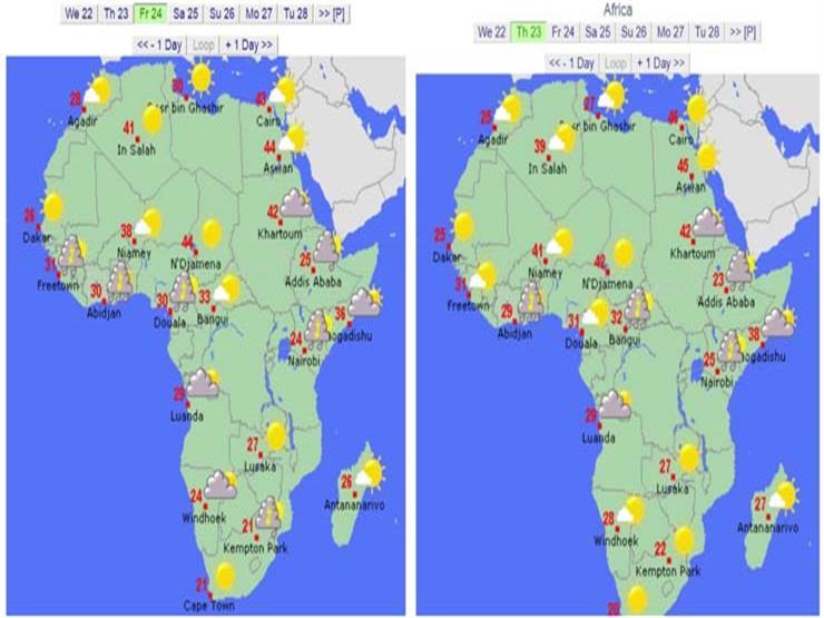 درجات الحرارة في أفريقيا 1