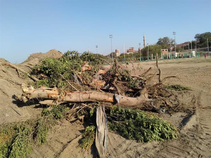 تدمير ملاعب مركز شباب قرية دهتورة (13)