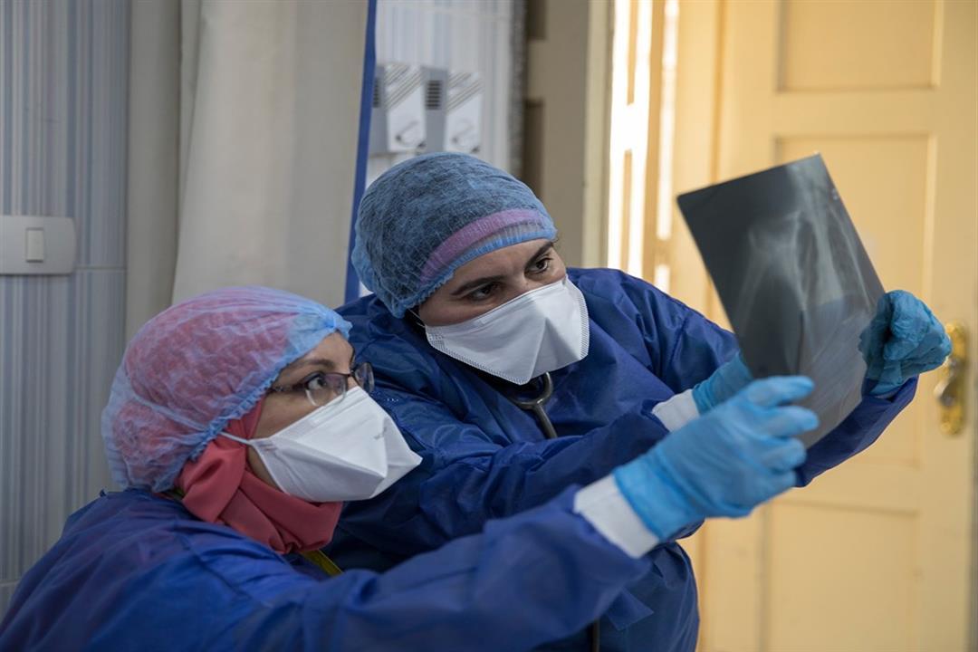 فحص أشعة الصدر الخاصة بالمريض