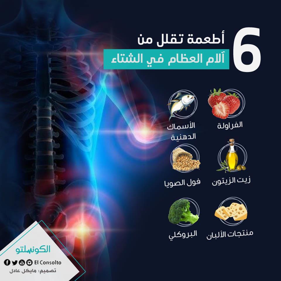 6  أطعمة تقلل من آلام العظام في الشتاء (1)