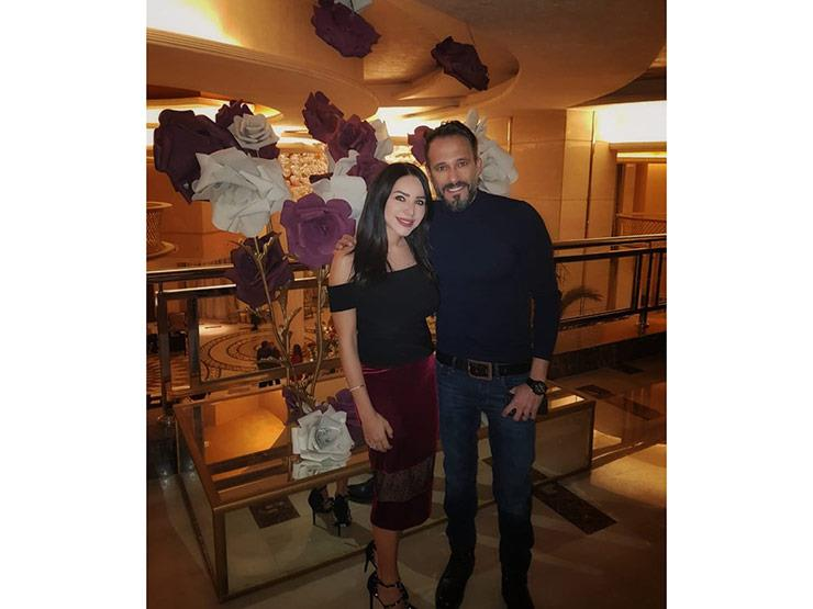 يوسف الشريف وزوجته