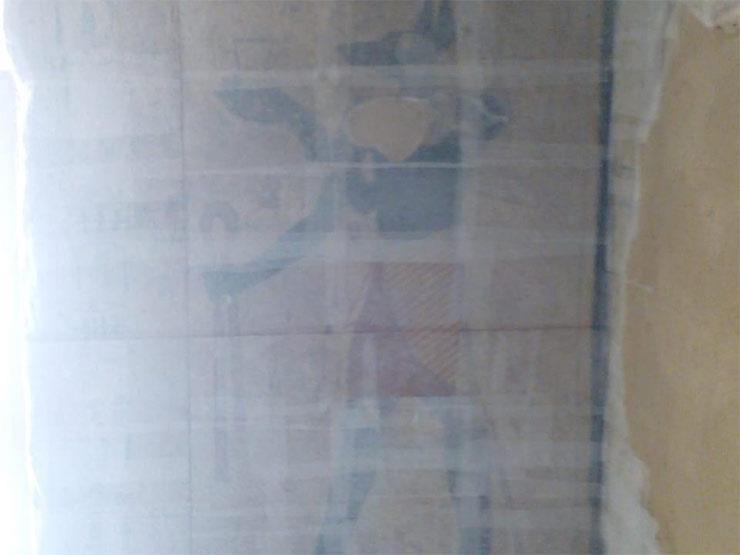 فك جدران مقبرة توتو بسوهاج