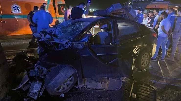 السيارة تهشمت في الحادث