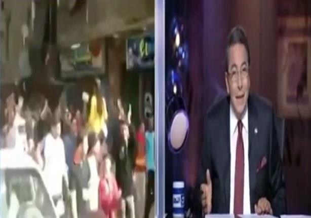 مظاهره داعشيه فى شوارع القاهره ومحمود سعد يعلق: يانهار اسود ومنيل