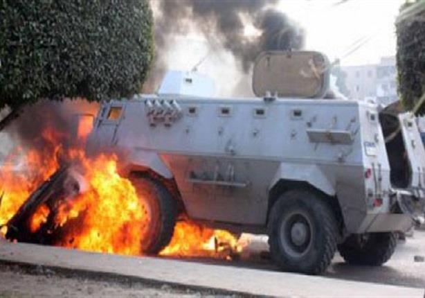 مقتل ضابط وإصابة أمين شرطة في تفجير مدرعة بالعريش