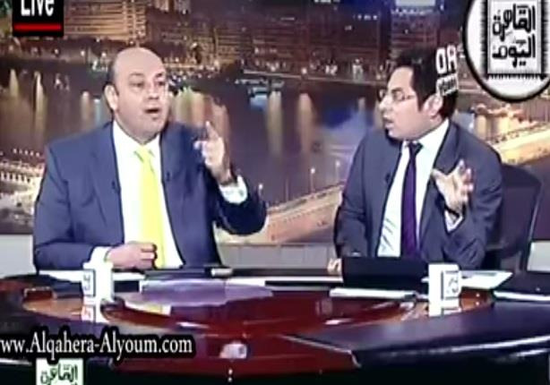 مشادة كلامية بين عمرو أديب وخالد أبوبكر بعد تصريحات