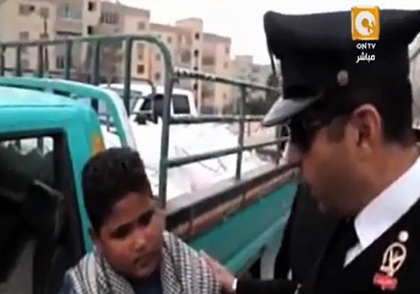 الأجهزة الأمنية تضبط طفل يقود سيارة نقل