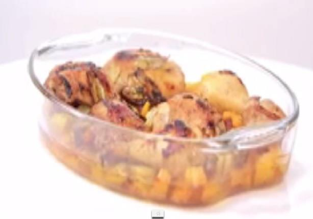 أوراك دجاج بتتبيلة الشبت - أرز بنكهة البصل والثوم - عصير زبيبمع غادة جميل