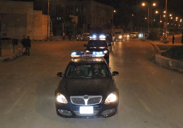 بالصور ..تكثيف الأكوال الأمنية داخل مدينة كفرالشيخ