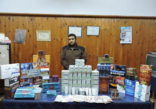 ضبط شاب بحوزته 45 ألف قرص منشطات جنسية في كفرالشيخ