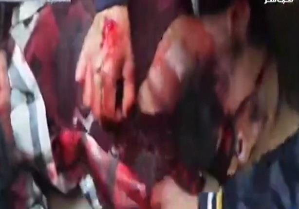 لحظة مقتل شخص بعد إطلاق عناصر تنظيم الإخوان النيرانعليه