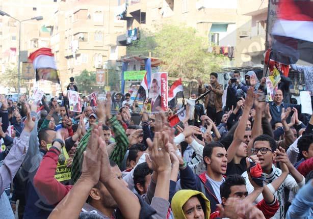 عدسة مصراوي ترصد مسيرة لانصار الاخوان بالطالبية