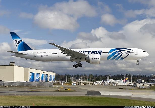 عودة الطائرة المصرية المحتجزة في السويد إلى مطار القاهرة