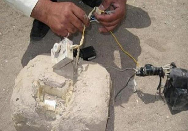 العثور على قنبلة هيكلية بطريق