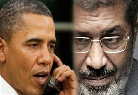 تفاصيل المكالمة الأولي بين مرسى وأوباما عبر موبيل الثريا من داخل القصر