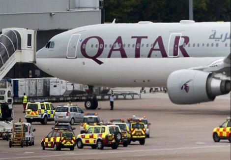 طائرة قطرية تهبط اضطراريا في سريلانكا بسبب حريق على متنها