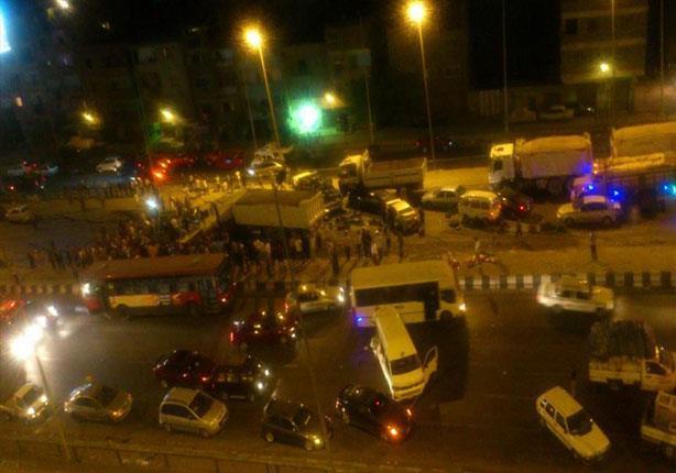 قتلى ومصابين في اصطدام 9 سيارات بالمعادي
