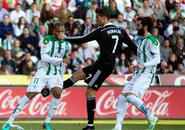 لحظة طرد كريستيانو رونالدو في مباراة ريال مدريد وقرطبة 2-1