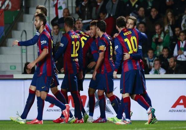 سداسية برشلونة ضد إلتشي