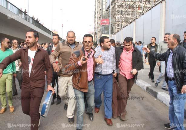 """بالصور- قبض عشوائي على متظاهري """"عبد المنعم رياض"""" عقب كر وفر بين الجانبين"""