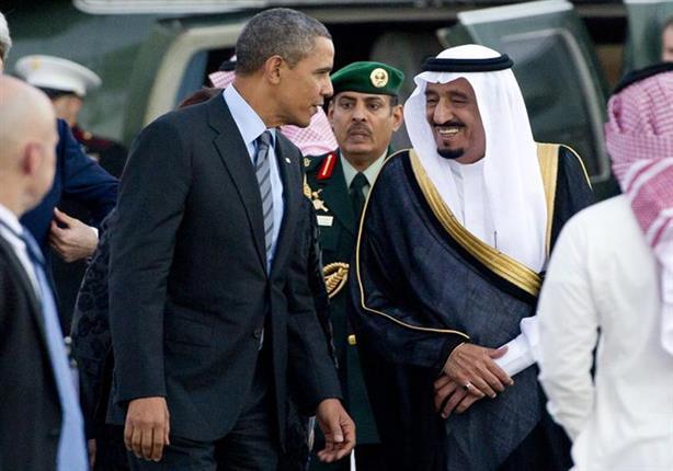 لحظة وصول أوباما إلى السعودية لتأدية العزاء في المللك عبد الله