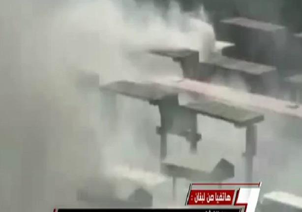 لحظة اشتعال أتوبيس داخل ميدان عبد المنعم رياض فى ذكرى 28 يناير
